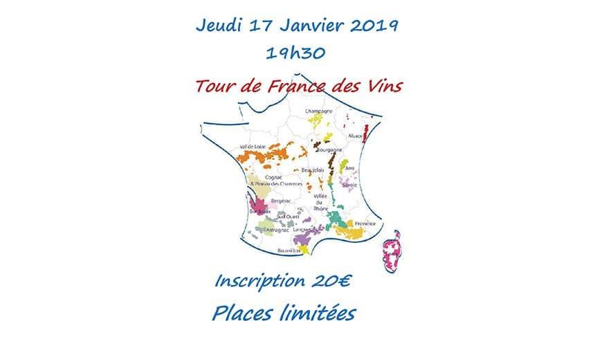 Soirée vins : Tour de France des vins