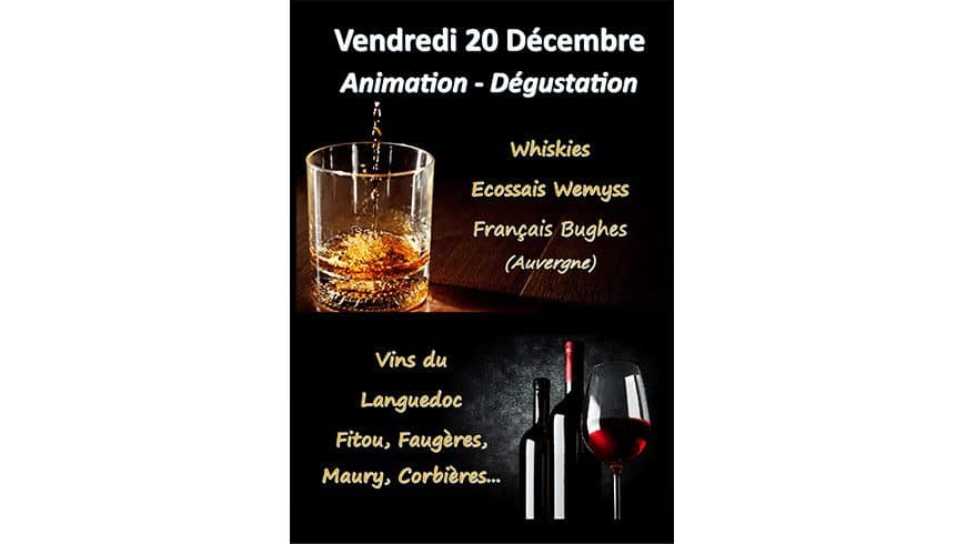 1er JOUR DE FOLIE : Vins et Whiskies