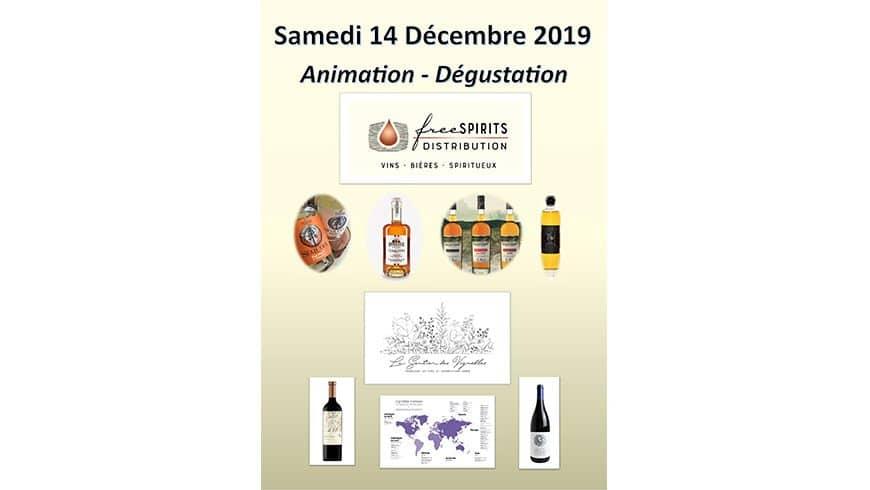 Animation Vins Étrangers et Whiskys Français