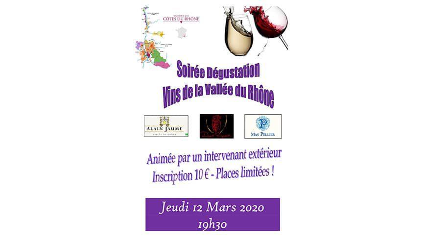 Soirée Vins de la Vallée du Rhône