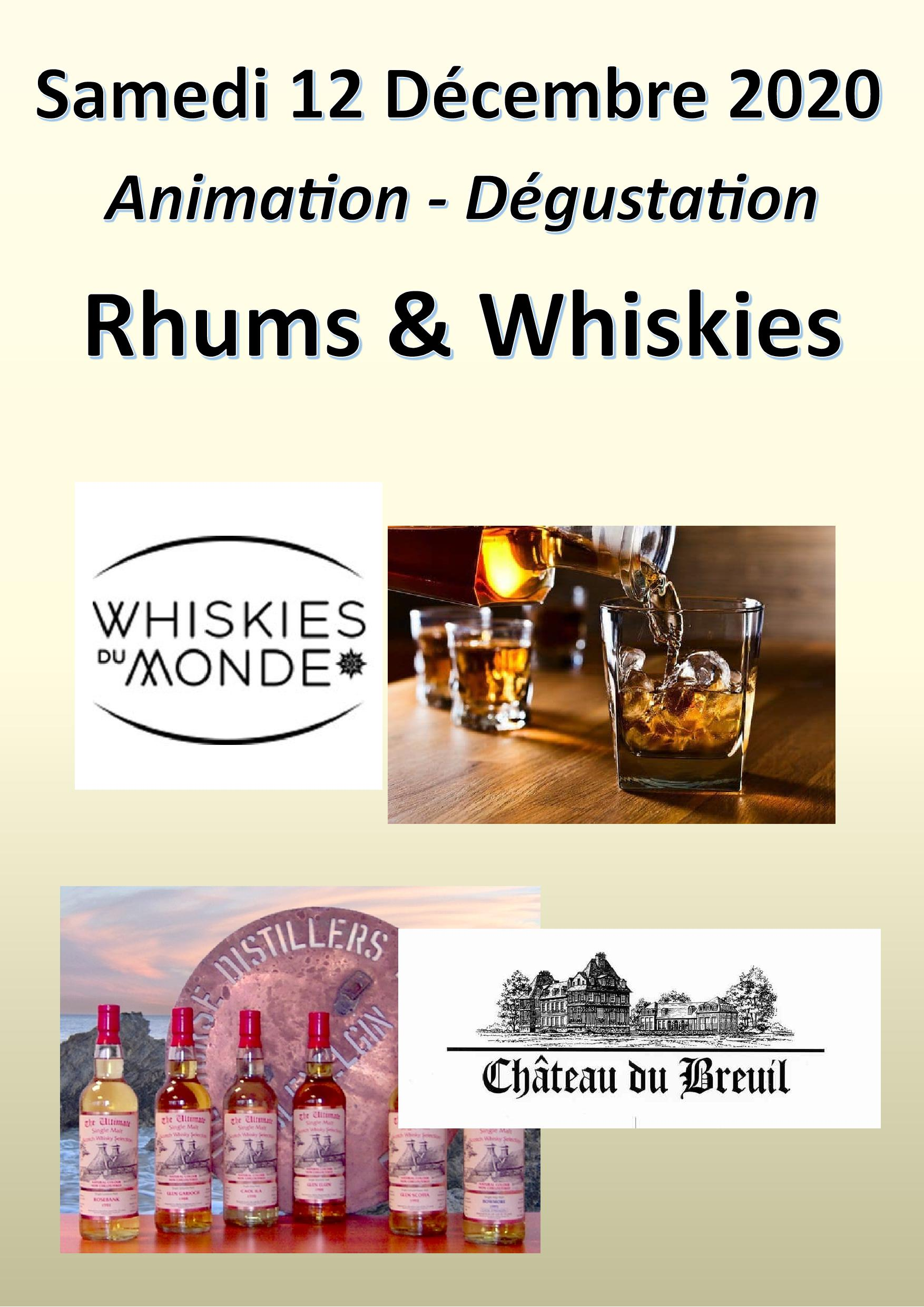 Animation Whiskies et Rhums