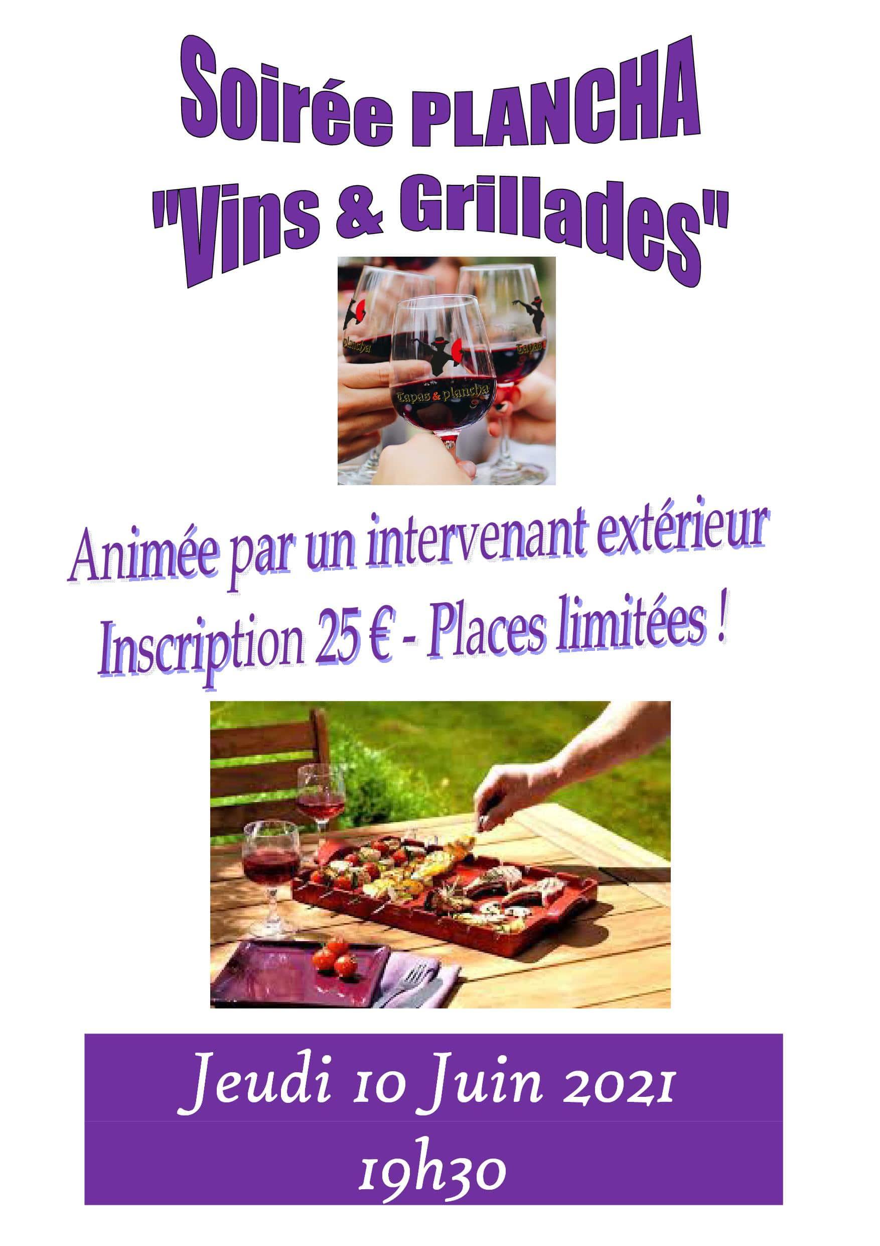Soirée Plancha: «Vins et Grillades»