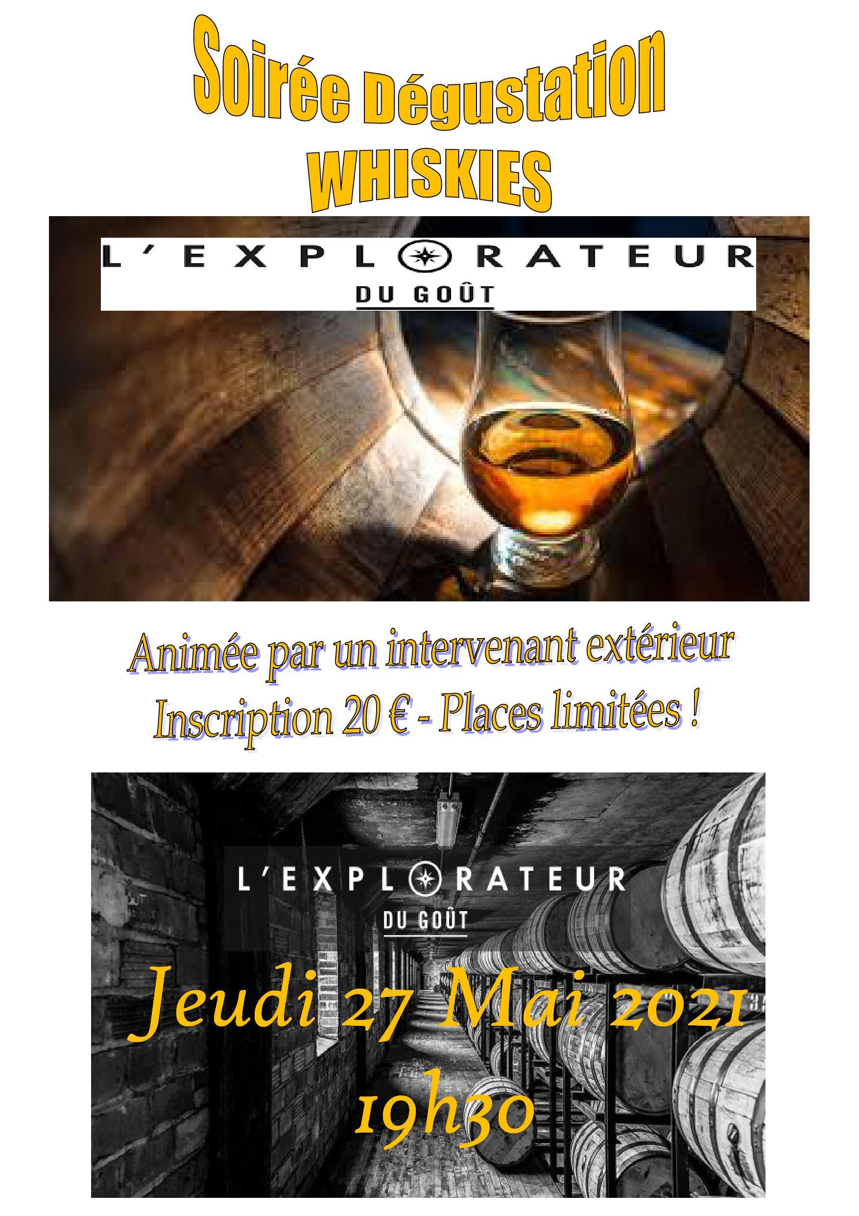 Soirée Whiskies «Explorateur du Goût»