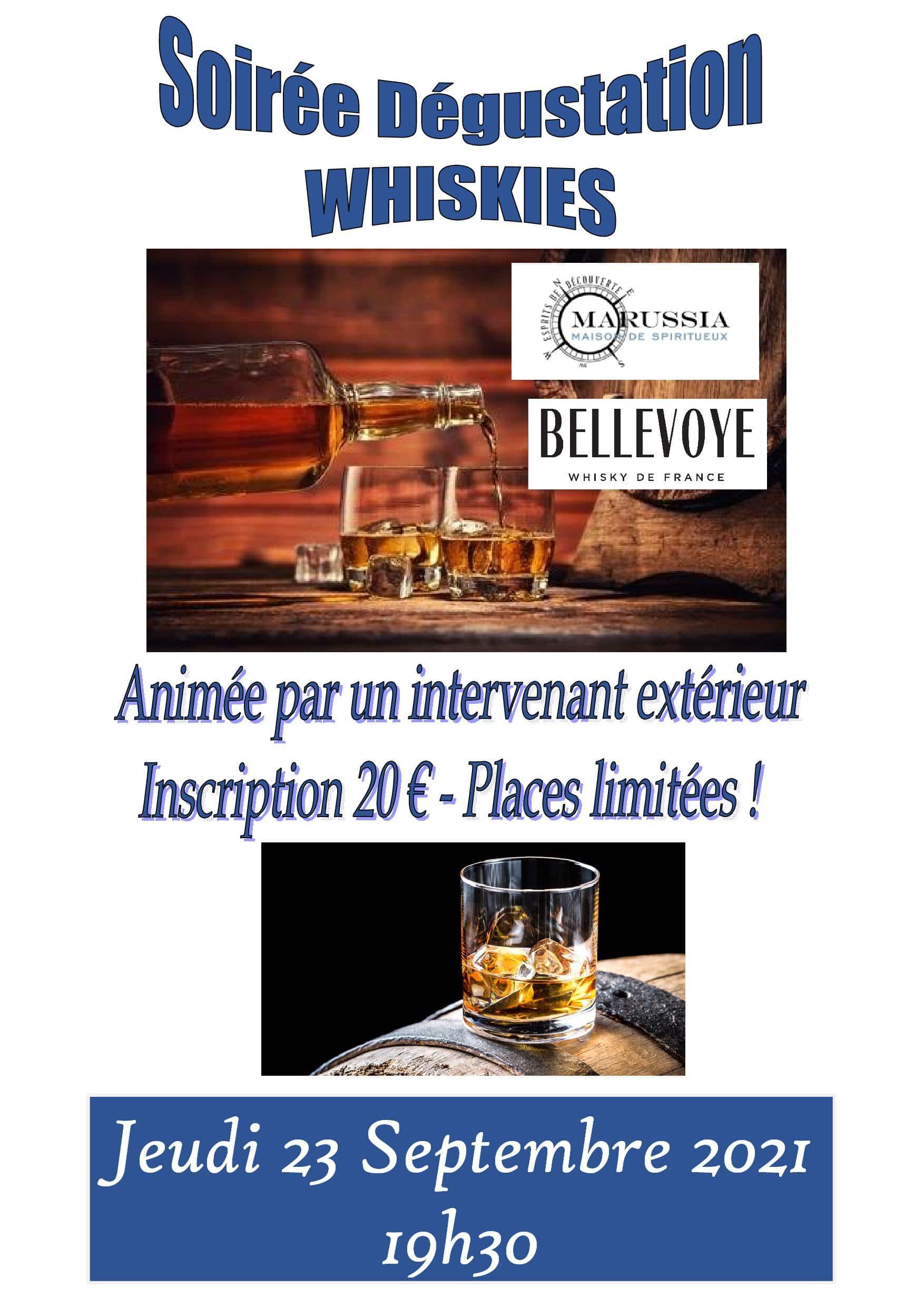Soirée Whiskies du Monde