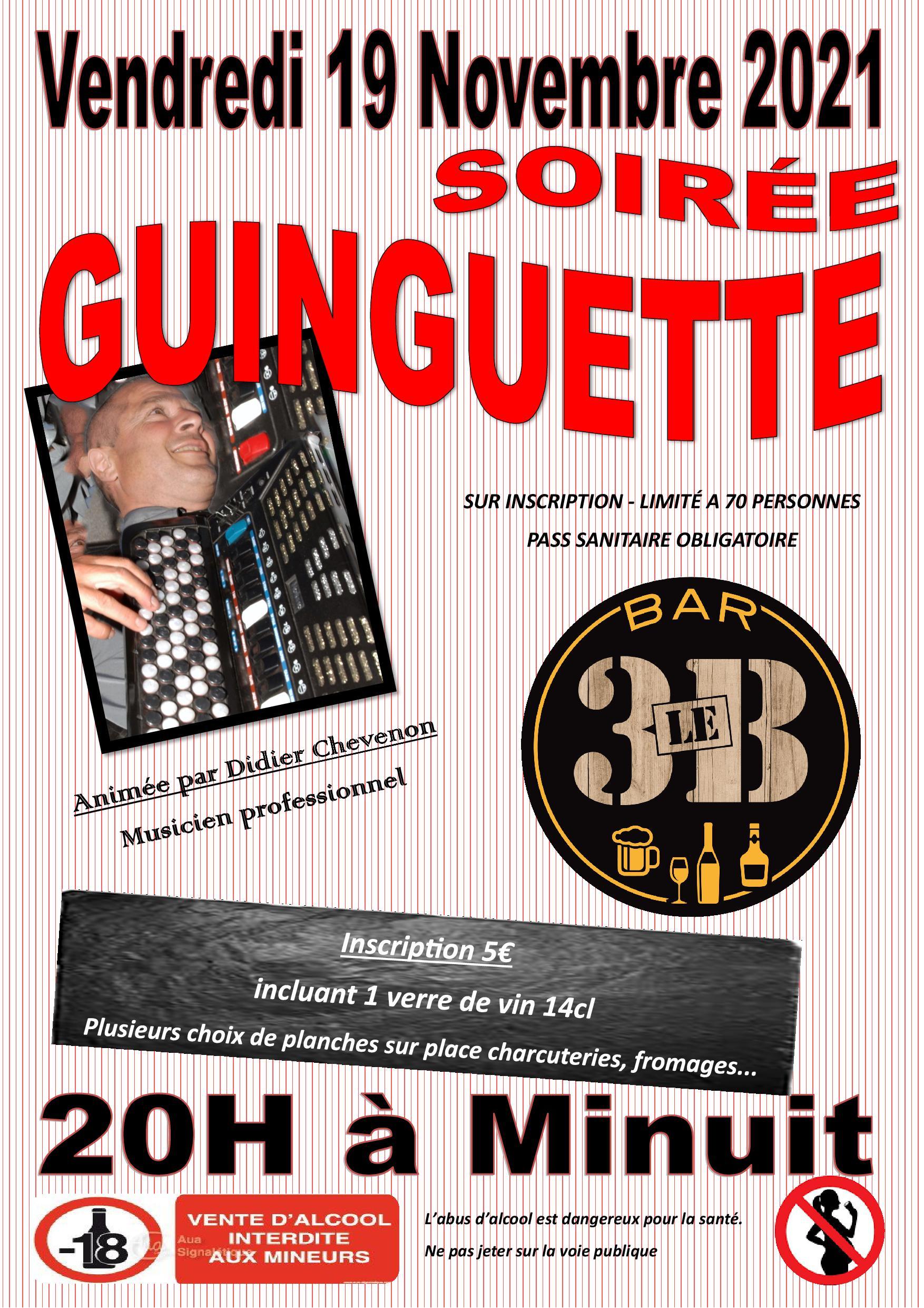 BAR LE 3B : Soirée Guinguette