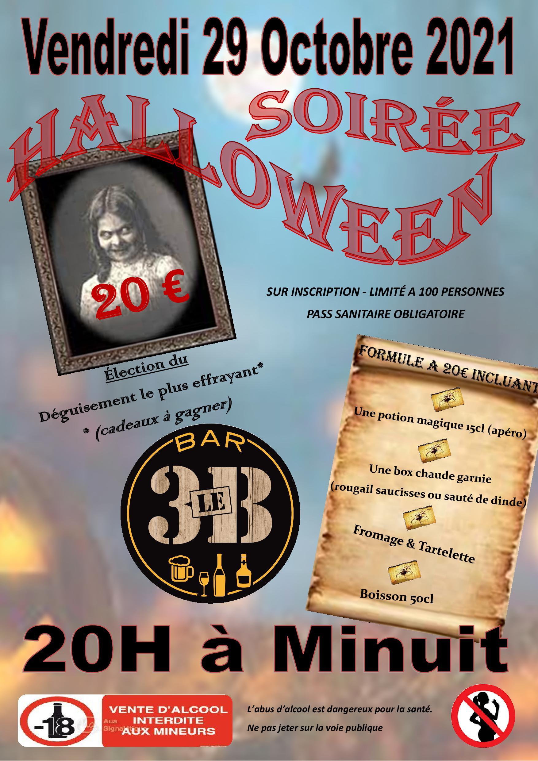 BAR LE 3B : Soirée Halloween